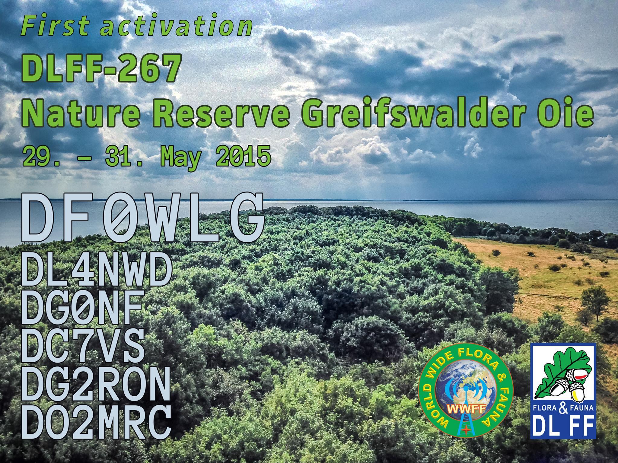 First activation DLFF-267 Nature reserve Greifswalder Oie